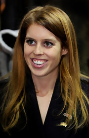 Princess Beatrice wore her hair sleek and smooth for the launch of the Great Britain MINI Tour.