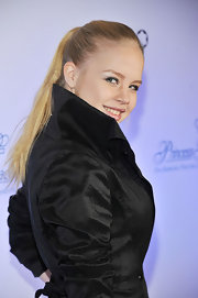 Sofia Vassilieva wore a sleek high ponytail to the Princess Grace Awards Gala.