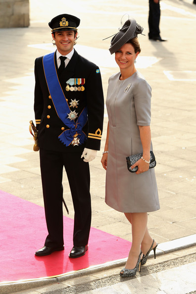 Princess Madeleine Beaded Clutch [uniform,military uniform,fashion,standing,gesture,street fashion,headgear,official,military officer,dress,guillaume of luxembourg stephanie de lannoy - official ceremony,carl-philip of sweden,stephanie,prince,belgian countess,maertha luise,princess,luxembourg,wedding,wedding ceremony]