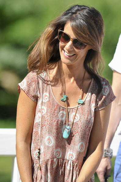 Princess Marie Turquoise Necklace [hair,eyewear,clothing,sunglasses,street fashion,lady,shoulder,hairstyle,cool,fashion,marie,family,royal danish,grasten,denmark,danish royal family,grasten castle,summer photo call,summer photocall]