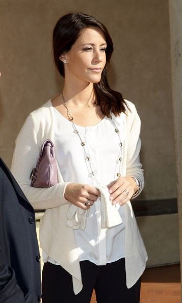 Princess Marie Cardigan [badia fiesolana,white,clothing,fashion,sleeve,shoulder,blouse,outerwear,textile,neck,top,marie of denmark,florence,italy,visit]