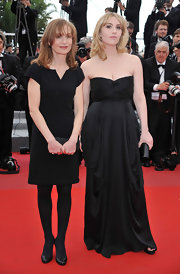 Isabelle Huppert opted for a simple yet classic LBD when she attended the premiere of 'The Princess of Montpensier.'