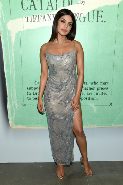 Priyanka Chopra Strappy Sandals [tiffany blue book collection,seasons,clothing,shoulder,dress,cocktail dress,fashion,hairstyle,joint,premiere,leg,long hair,dress,priyanka chopra,tiffany blue,clothing,fashion,tiffany - inside,new york city,tiffany co,priyanka chopra,tiffany co.,2018,dress,new york,bollywood,celebrity,tiffany blue,fashion,clothing]