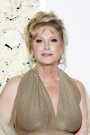 Kathy Hilton looked glam at the QVC cocktail party with her messy updo.