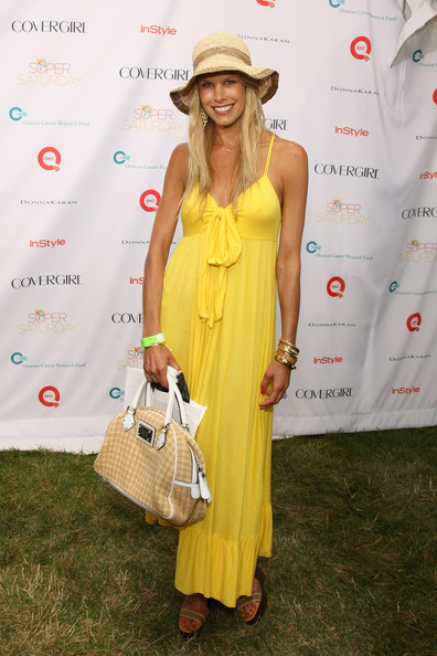 Beth Ostrosky-Stern in a Yellow Sundress