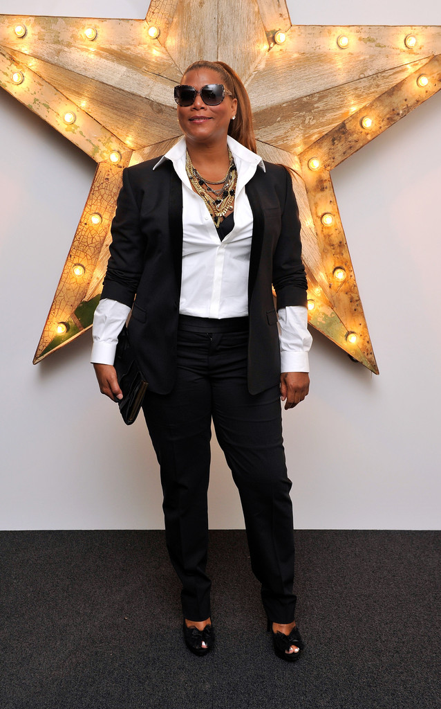 outstanding queen latifah outfit photos