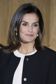 Queen Letizia of Spain styled her hair into a retro-chic flip for the Integra Awards.