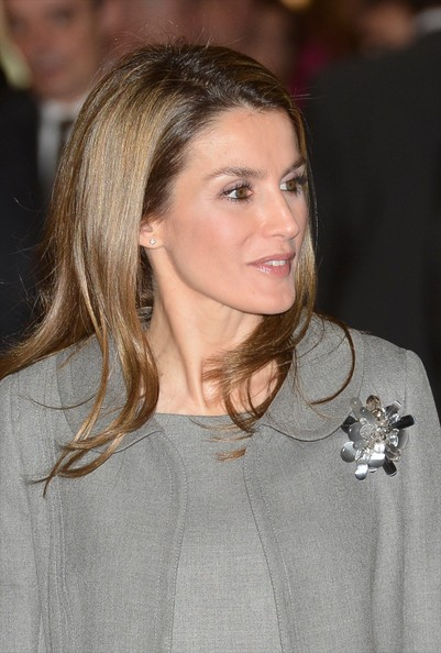 Queen Letizia of Spain Sterling Brooch