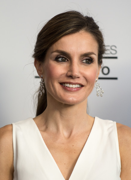 Queen Letizia of Spain Diamond Chandelier Earrings