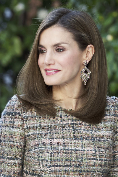 Queen Letizia of Spain Gemstone Chandelier Earrings