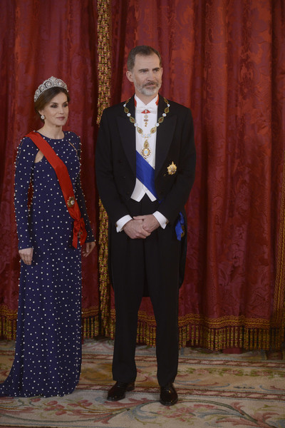 Queen Letizia of Spain Beaded Dress