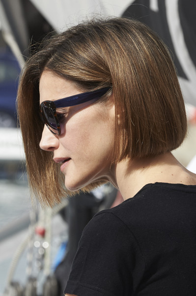 Queen Letizia of Spain Bob [eyewear,hair,face,hairstyle,sunglasses,glasses,blond,cool,chin,beauty,boat,letizia,spain,palma de mallorca,copa del rey,aifos,mapfre sailing cup]