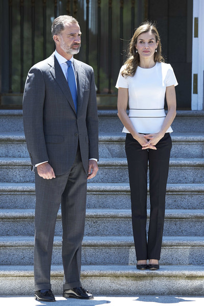 Queen Letizia of Spain Peplum Top