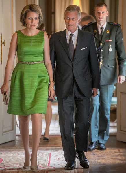 Queen Mathilde of Belgium Cocktail Dress [suit,formal wear,dress,fashion,standing,tuxedo,ceremony,gentleman,event,flooring,mathilde of belgium,philippe of belgium,elisabeth competition,offer,belgium,brussels,lunch,lunch,queen mathilde of belgium,philippe of belgium,belgium,elisabeth of bavaria queen of belgium,queen elisabeth competition,queen regnant,image,photography]