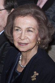 Queen Sofia kept it classic with this curled-out bob at the Alzheimer Congress in Valladolid.