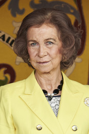 Queen Sofia kept it classic with this curled bob at the Red Cross World Day event.