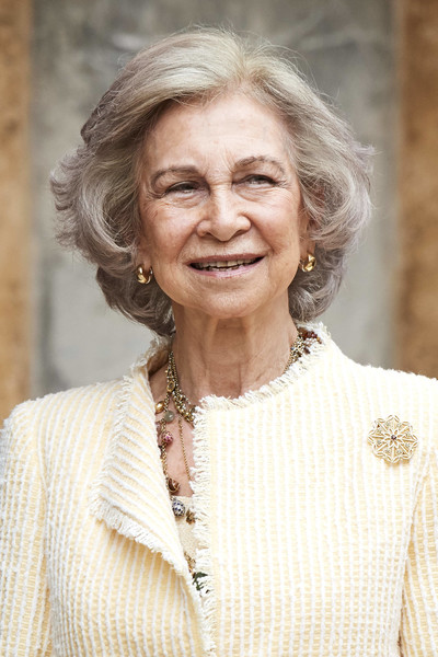 Queen Sofia Bob [smile,wrinkle,portrait,easter mass,palma de mallorca,spanish,cathedral of palma de mallorca,spain,royals,sofia]