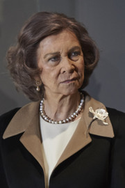 Queen Sofia visited the Mosen Rubi Chapel in Avila wearing her hair in a curled bob.