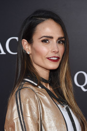Jordana Brewster opted for a simple yet stylish straight 'do when she attended the New York premiere of 'A Quiet Place.'