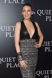 Blake Lively attended the New York premiere of 'A Quiet Place' wearing a Lorraine Schwartz statement ring along with tons of bracelets.