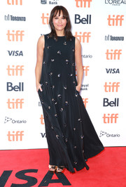 Rashida Jones opted for a beaded black maxi dress by Rochas when she attended the TIFF premiere of 'Quincy.'