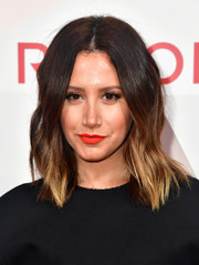 Ashley Tisdale's red lipstick looked almost hypnotic in its brightness!