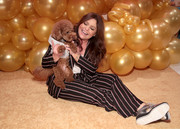 Rachael Ray kept it relaxed in a striped pajama suit during the 10th anniversary celebration of her pet food brand, Nutrish.