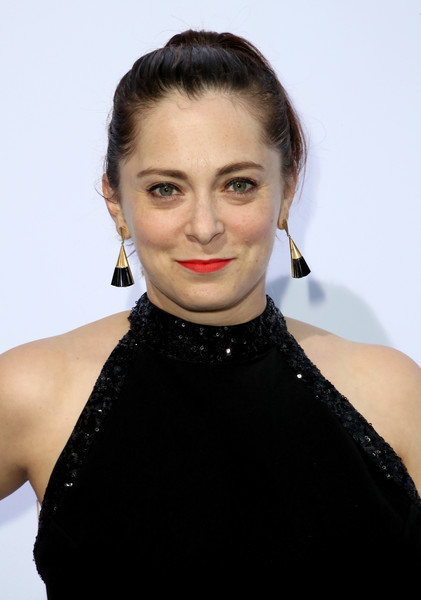 Rachel Bloom Ponytail [hair,face,lip,hairstyle,eyebrow,beauty,chin,neck,cheek,shoulder,rachel zoe,arrivals,rachel bloom,presentation,la,los angeles,california,hotel bel-air,la presentation]