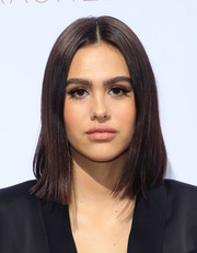 Amelia Hamlin wore her hair in a sleek mid-length bob at the Rachel Zoe Spring 2019 presentation.