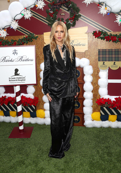 Rachel Zoe Pantsuit [red,carpet,red carpet,fashion,flooring,outerwear,event,christmas,premiere,christmas tree,rachel zoe,los angeles to benefit st. jude - arrivals,los angeles,beverly wilshire four seasons hotel,beverly hills,california,benefit st. jude,brooks brothers hosts annual holiday celebration,brooks brothers host annual holiday celebration]