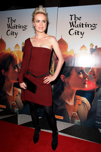 Radha Mitchell One Shoulder Dress [the waiting city,red,clothing,dress,carpet,premiere,red carpet,fashion,flooring,event,cocktail dress,sydney premiere,radha mitchell,sydney,australia,dendy opera quays,premiere]