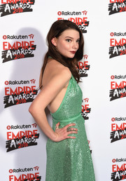 Anya Taylor-Joy paired a statement ring with a sequined dress for her sparkling look at the Rakuten TV Empire Awards 2018.