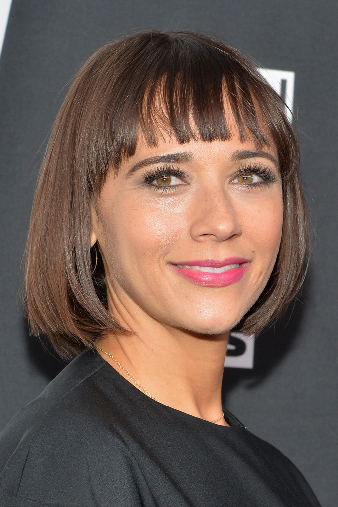 Rashida Jones Short Cut With Bangs Short Hairstyles Lookbook
