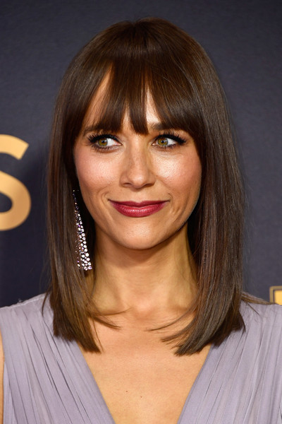 Rashida Jones Medium Straight Cut with Bangs