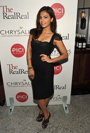 Azita Ghanizada looked saucy-chic in a lacy LBD for the Chrysalis Charity Benefit in Beverly Hills.