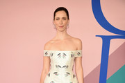Rebecca Hall Off-the-Shoulder Dress