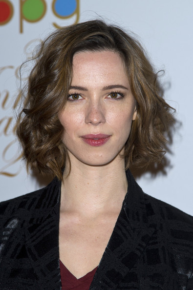 Rebecca Hall Curled Out Bob [hair,hairstyle,face,eyebrow,lip,chin,blond,brown hair,layered hair,long hair,arrivals,rebecca hall,tv,radio awards,awards,london,england,broadcasting press guild,radio]