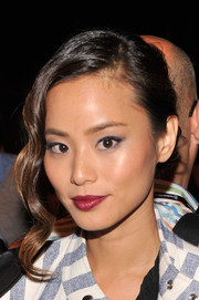 Jamie Chung channeled Old Hollywood with this glamorous updo at the Rebecca Minkoff fashion show.