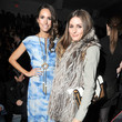 Old friends sit side-by-side at the fall 2012 Rebecca Taylor show
