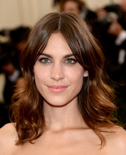 Alexa Chung went for a boho feel with this center-parted, feathery 'do at the Met Gala.