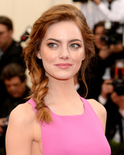 Emma Stone kept it youthful and chic with this loose side braid at the Met Gala.