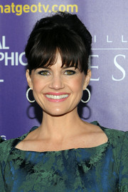 Carla Gugino went the retro route with this beehive during the world premiere of 'Killing Jesus.'