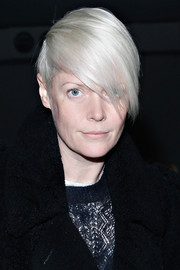 Kate Lanphear looked super cool with her emo bangs at the Reed Krakoff fashion show.