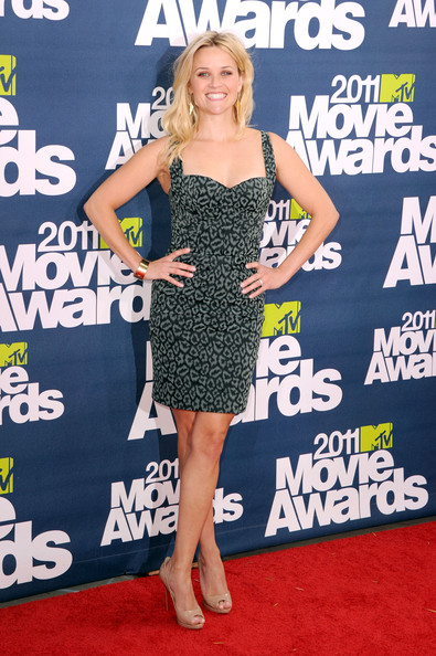 Reese Witherspoon Print Dress []