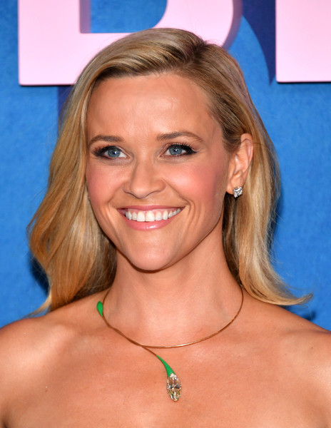 Reese Witherspoon Long Wavy Cut [big little lies,season,hair,face,blond,hairstyle,chin,eyebrow,neck,smile,surfer hair,brown hair,reese witherspoon,jazz,new york city,lincoln center,premiere]