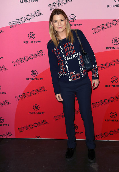 More Pics of Ellen Pompeo Layered Cut (1 of 3) - Long Hairstyles Lookbook - StyleBistro