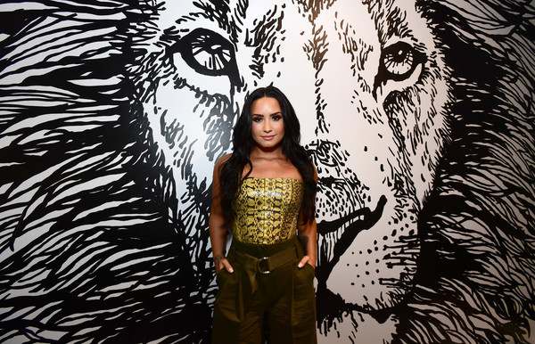 More Pics of Demi Lovato Pumps (5 of 9) - Heels Lookbook - StyleBistro [photo,illustration,art,tree,visual arts,photography,plant,wolf,mural,graphic design,demi lovato,caption,los angeles,refinery29 29rooms,29rooms,row dtla,refinery29,getty images,turn it into art opening night party]