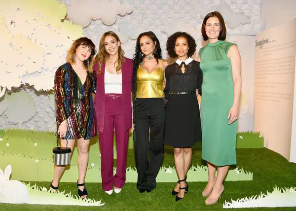 More Pics of Gugu Mbatha-Raw Knee Length Skirt (1 of 8) - Dresses & Skirts Lookbook - StyleBistro [social group,green,fashion,event,fun,dress,formal wear,fashion design,sarah personette,co-founder,chief operating officer,gugu mbatha-raw,kehlani,piera gelardi,29rooms san francisco,refinery29,party,turn it into art opening]