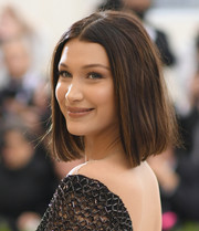 Bella Hadid looked lovely with her classic lob and sweet smile at the 2017 Met Gala.
