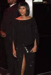 Kerry Washington accessorized with a croc-embossed envelope clutch at the Met Gala after-party.